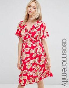 ASOS Maternity Tea Dress in Daisy Print