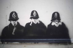 Speak no evil , hear no evil , see no evil by 4foot2, via Flickr See No Evil, Wise Monkeys, Street Art, Darth Vader, Fictional Characters, Three Wise Monkeys, Fantasy Characters
