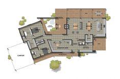 Inverleigh-39.1-Floor-Plan-950×627 Luxury House Plans, Best House Plans, Dream House Plans, Small House Plans, House Floor Plans, Australian House Plans, Australian Homes, Architecture Portfolio Layout, Architecture Plan