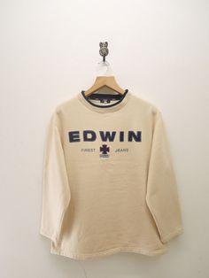 Vintage Edwin Sweater Sweatshirt by RetroFlexClothing on Etsy Comfy Hoodies, Sweatshirts, Happy Shopping, Vintage Outfits, Graphic Sweatshirt, Retro, Sweaters, Closet, Fashion