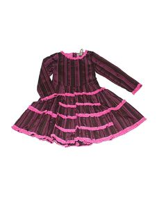 Take a look at this Brown & Pink Ruffle Dress - Infant on zulily today!