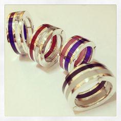 Anillos de Plata con Acrílicos de Colores | Clases de Orfebrería | Argollas de Matrimonio | Diseños especiales a pedido | solocata@gmail.com | 09.93583732
