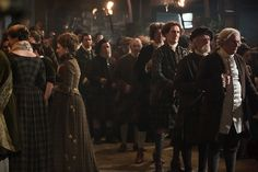 The Great Hall was filled with MacKenzies during the Gathering. The men made their oaths to the clan. For Jamie, the choice wasn't as simple.