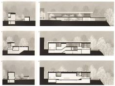 bouwkunst:  sections of Peter Zumthor's house