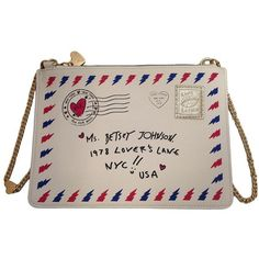 Betsey Johnson Kitsch Love Letter Crossbody Bag ($68) ❤ liked on Polyvore featuring bags, handbags, shoulder bags, cream, crossbody purse, pink purse, pvc purse, pink shoulder bag and pink handbags