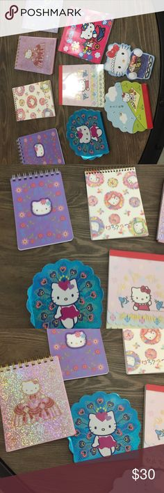 Hello Kitty note pads Various sized Hello Kitty note pads Hello Kitty Other