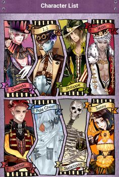 Character list for the world of NIFLHEIM . Pale ghost is best.. His name is Nick by the way...