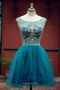 Elegant Sleeveless tulle Short Prom Dress