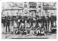 1909 Regina Capitals - Assembled from Canada's best to challenge New Westminster for the Minto Cup.  Team includes Newsy Lalonde, Bun Clarke, Tommy Gorman, Sport Murton, Bones Allen - all current Cdn LaX Hall of Famers