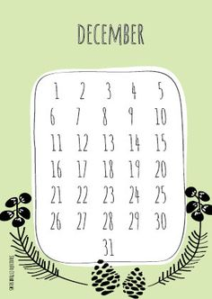 Kalenderkaart  verjaardagskaart 'December'. door marloesbijlsma