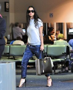 87d90032f00b Demi Moore carrying Salvatore Ferragamo bag Jeans Style