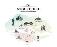 illustration map Stockholm Cracco