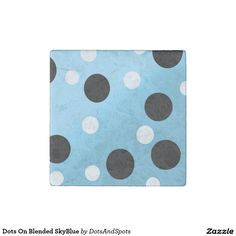 Dots On Blended SkyBlue Stone Magnet