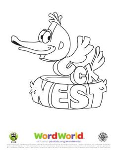 Free Word World Coloring Pages Word World Party Ideas