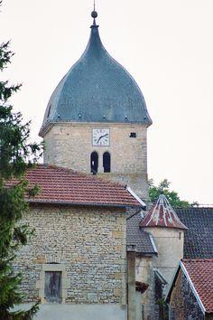 Courcelles sur Blaise, Haute-Marne, France. Le clocher, 2006