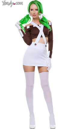 Sexy Chocolate Girl Costume willy wonka