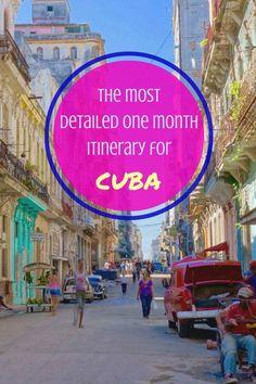 1 month itinerary for Cuba & cuba travel guide to: Havana, Viales, Bay of Pigs (Baha de Cochinos), Cienfuegos, Trinidad, Santa Clara, Camagey,  Santiago de Cuba, Baracoa and more! How to travel cuba!