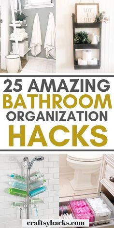 Try these bathroom organization hacks and organize bathroom. These bathroom hacks are fun and will help you to keep your place in shape. organization hacks 25 Bathroom Organization Hacks You Need to Know Organisation Hacks, Organizing Hacks, Diy Organization, Diy Storage, Storage Ideas, Cleaning Hacks, Towel Storage, Cleaning Products, Small Bathroom Organization