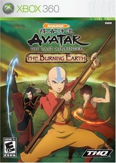 Avatar The Last Airbender The Burning Earth - Xbox 360 Game X Games, Xbox 360 Games, Games Ps2, Playstation 2, Ps3, Cover Art, Earth Games, Avatar Video, Latest Video Games