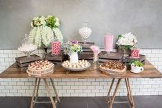 Catering Project Sydney - Pink candy station, perfect for the rustic wedding look and filled with sweets! Office Catering, Lunch Catering, Fruit Cookies, Nut Cheese, All Fruits, Grazing Tables, Food Stations, Food Decoration, Catering Services