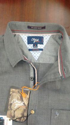 Men's shirt detailing. filafil. casual.