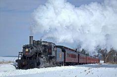 Strasburg 89 in the snow