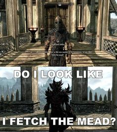 """So you heard that but not that I'm the new Harbinger? And Arch-Mage of Winterhold, head of the Thieves Guild, leader of the Dark Brotherhood, and the FREAKING DRAGONBORN?"" <----VERY TRUE"