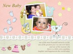 Download Free Baby Greeting Card Template-1001 in CorelDraw and Ms-Word File Format.