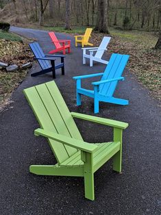 Adirondack Chair Modern Style Made from Poly Lumber Diy Outdoor Furniture, Pallet Furniture, Rustic Furniture, Outdoor Decor, Wooden Outdoor Chairs, Backyard Furniture, Design Furniture, Plywood Furniture, Furniture Sale