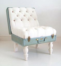 The Suitcase Chair- oh my goodness- how cool is this?