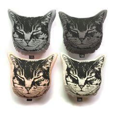 Small Kitty Pillow Cat Pillow Plush Cat Stuffed by alittlelark