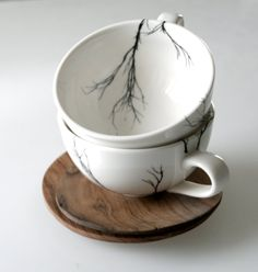 Haven't been on Etsy in a while...for good reason. I want everything, such as these tree cups by lovemilodesign.