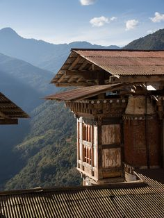 Tongsa Dzong Rooftop . Bhutan