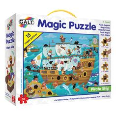 Buy Galt Toys Pirate Ship 50 Piece Magic Puzzle at Argos. Thousands of products for same day delivery or fast store collection. New Year's Games, Games For Kids, Educational Software, Educational Toys, Toddler Toys, Kids Toys, Children's Toys, Education And Development, Developmental Toys
