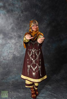 """Mysterious charm of the North Caucasus:  A Dagestani women in national wedding costume"""