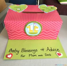 Baby shower game: Advice well and wishes box. A wonderful baby shower game idea that will also become a treasured keepsake for the new mom More
