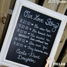 A cute wedding idea