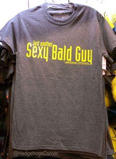 0e1ee0b6 Universal Studios Dreamworks Shrek Just Another Sexy Bald Guy Shirt Gray
