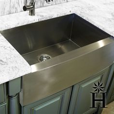 Gray green cabinet paint color cottage kitchen for Colored stainless steel sinks