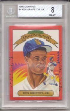 1990 Donruss Diamond Kings #4 Ken Griffey Jr. Baseball Card Beckett Graded 8NM-MT . $24.99. Graded Ken Griffey Jr. Baseball Card, 8NM-MT. Graded by Beckett. In clear protective case.