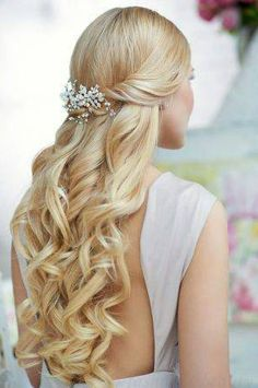 hair styles for long hair. I like the idea of having baby's breath in my hair