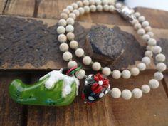 Elf Bracelet Handmade Porcelain Elf Shoe Artisan by FeminineGenius
