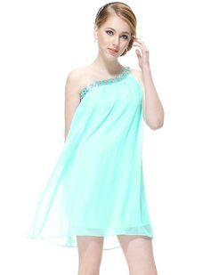 Ever Pretty Stunning Rhinestones One Shoulder Short Party Dress is on sale now for - 25 % !