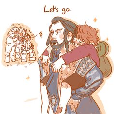 Tumblr inchells Bilbo wouldn't wake up, Thorin has the solution. Click the link, go look at the entire strip. It's cuteness!       Thorin Bilbo thilbo bagginshield hobbit