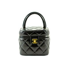 d1bfd7860b68 Chanel: RARE Vintage Black Quilted Patent Leather TRAIN CASE found on  Polyvore Fashion Bags,