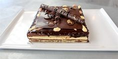 Try this Classic Opera Cake recipe by Chef Monica.This recipe is from the show The Great Australian Bake Off. Great Australian Bake Off, Chocolate Mirror Glaze, British Bake Off Recipes, Coffee Icing, Opera Cake, Something Sweet, Let Them Eat Cake, No Bake Cake, Cake Recipes