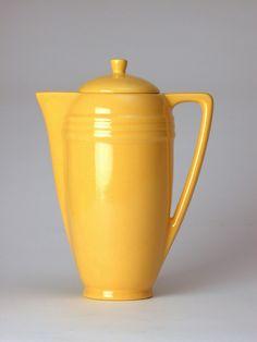 Bauer Pottery Coffee Pot in Bauer Yellow - http://bauerla.stores.yahoo.net/beverageware.html