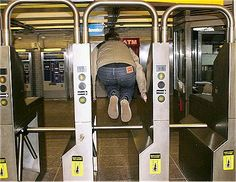The Subtle Art of Jumping The Turnstile | Broke-Ass Stuart's Goddamn Website