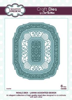 Creative Expressions Craft Dies by Sue Wilson - Noble Dies - Lavish Accented Design
