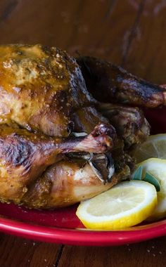 Gandering at store roasted chickens? Do it at home and freeze it for later! Making a whole chicken from frozen is easy with an Instant Pot pressure cooker. via @onceamonthmeals